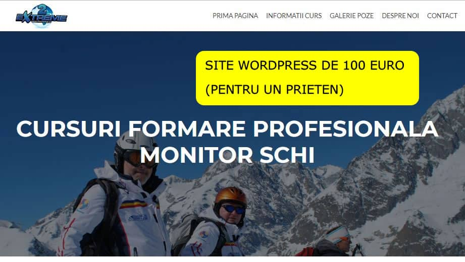 Site wordpress 100 euro